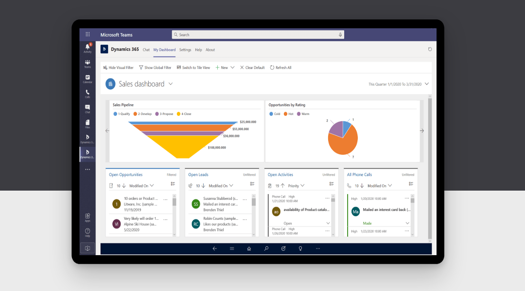 Benefits of Dynamics 365 Sales Professional integration with Microsoft 365